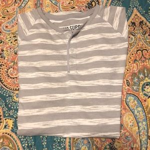 Grey and White Stripped T Shirt